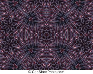 Star Kaleidoscopic Pattern Abstract - Star blends,...