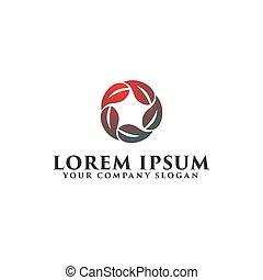star leaf logo design concept template