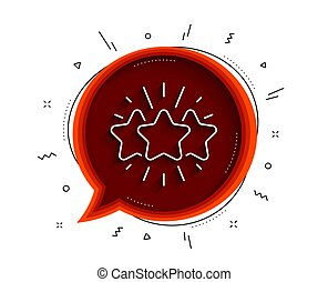 Star line icon. Feedback rating sign. Vector