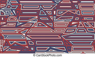 Star lines red and blue background. Abstract vector illustration. Creative design decoration backdrop.