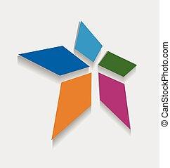 Star logo design - Abstract star logo vector