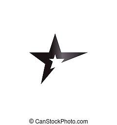 Star logo graphic design template vector