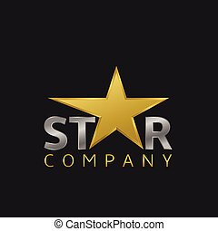 Star logo icon - Super golden star logo icon for your...