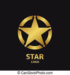 Star Logo - Super golden star vector logo icon for your...