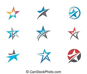 Star Logo Template - Red and blue Star falcon Logo Template...