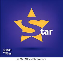 Star logo vector design template.