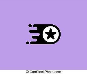 Star logotype. Leader vector logo design.