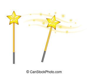 Star magic wand isolated on white background
