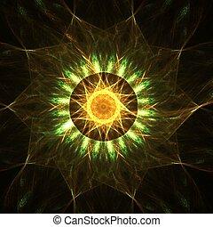 Star mandala - Fractal abstract of star mandala