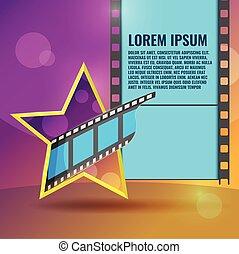 Star Movie Film Entertainment Background Vector