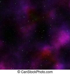 Star nebula - Space nebula starfield illustration of...