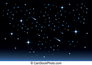 Star night sky - Stock Illustration