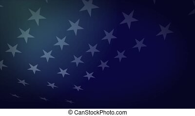 Star of American Flag with floating