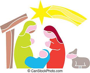 Star of Bethlehem. Nativity - Illustration Cartoon vector...