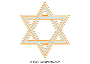Star of David, 3D rendering