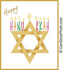 Star of David and Menorah Hanukkah - Star of David and...