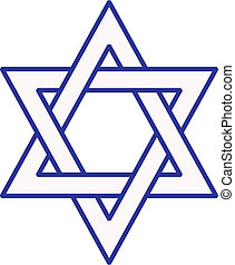 Star of David - Vector of the outline of a Star of David