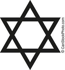 Star Of David, Hexagon Star Icon Vector