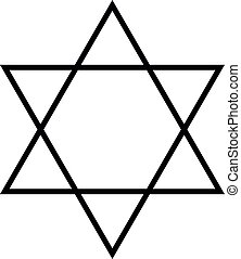 Star of David. Hexagram sign. Symbol of Jewish identity and...