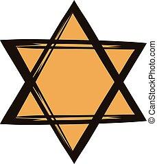 Star of david icon cartoon