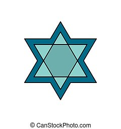 Star of David icon, cartoon style - Star of David icon....