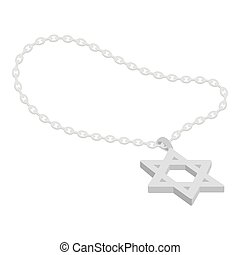Star of David icon in monochrome style isolated on white...