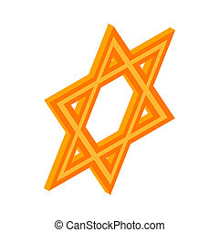Star of David icon, isometric 3d style