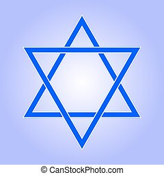 Star of David icon. Star of David flat style. Star of David...