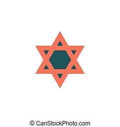 Star of David Icon Vector