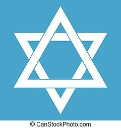 Star of David icon white