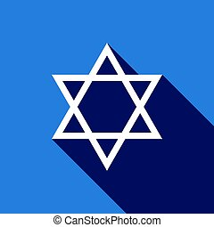 Star of David icon with long shadow.