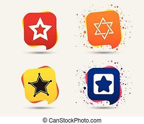 Star of David icons. Symbol of Israel. - Star of David...