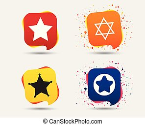 Star of David icons. Symbol of Israel. - Star of David...