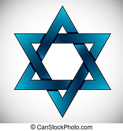 Star of David. - Star of David, symbol of Israel.