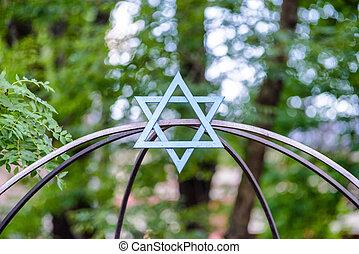 Star of David in Krakow - Jewish symbol - star of David in...