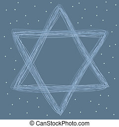star of david made of lines