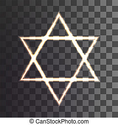 star of David on a transparent background. Vector...
