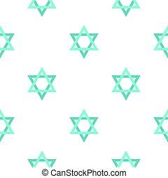 Star of David pattern flat - Star of David pattern seamless...
