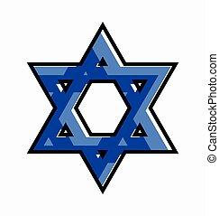 Star of David Symbol Vector Illustration