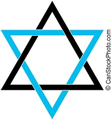 Star of David - The David Star abstract vector design...