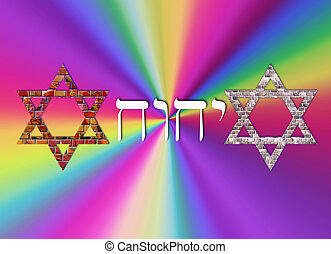 Star of David - Two Stars of David with the name Yahve by...