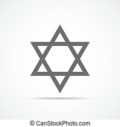 Star of David. Vector illustration. - Star of David icon....