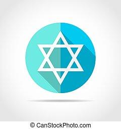 Star of David. Vector illustration. - White star of David in...