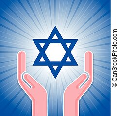 Star of David with hands