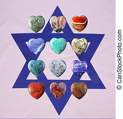 Star of David with precious stones