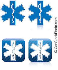 Emergency medical and rescue symbol, rod of asclepius