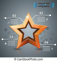 Star of the winner. Business infographic.