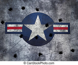 star on brushed metal - great image USAF star roundel on...