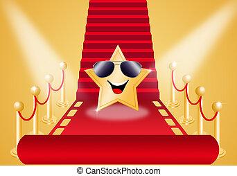 Star on Red carpet for Oscars award
