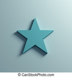 Star on the Wall. 3D Render Illustration - Star on the Wall....